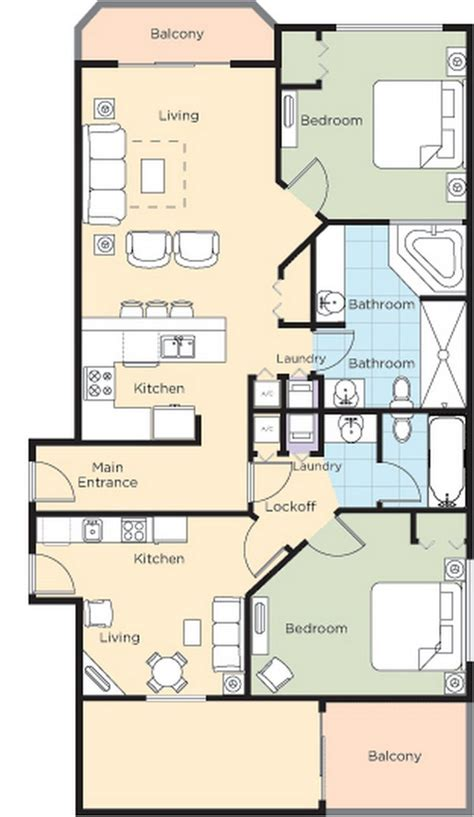 walk resort floorplans