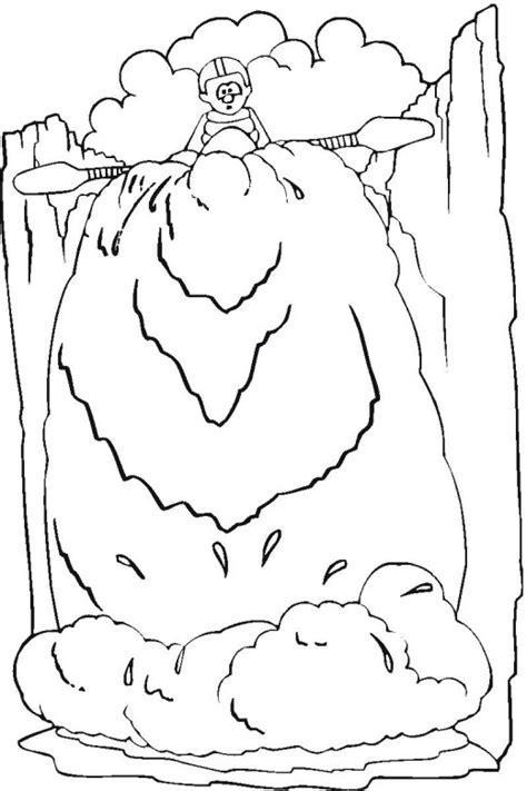 waterfall coloring pages free waterfalls coloring pages