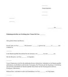 Muster Einladung Für Besuchervisum Einladungsschreiben F 252 R Ein Visum Standardbeispiel