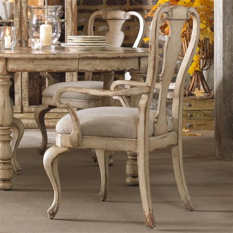 distressed dining room furniture hooker furniture wakefield distressed white splatback arm