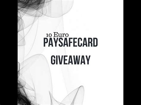 Paysafecard Giveaway - full download giveaway winner crazy 50 euro paysafecard