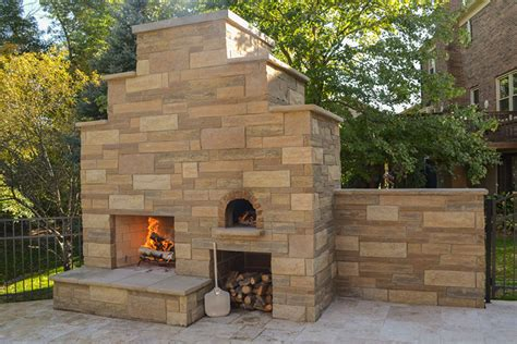 Outdoor Brick Fireplace With Pizza Oven by Kurzhals Family Wood Fired Outdoor Brick Pizza Oven And