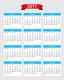 Calendario 2018 Con Semanas 2017 Calendario Settimana Inizia Di Domenica Vettoriali