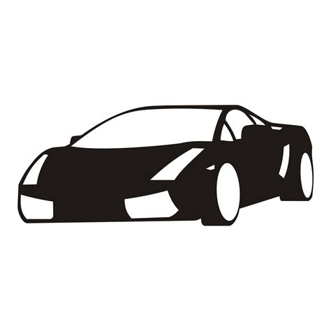 car logo black and white vector for free use black car on white