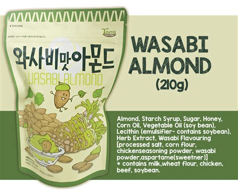 Wasabi Almond by Buy Imported Korean Honey Butter Almond 250g Wasabi