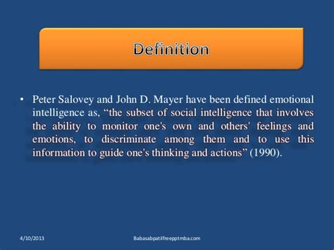 Hrm Ppt For Mba by Emotional Intelligence Hrm Ppt Mba