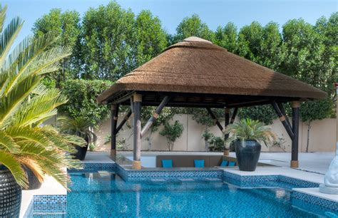 pool gazebo pool bar perfectly shaded with a thatch gazebo gazebo