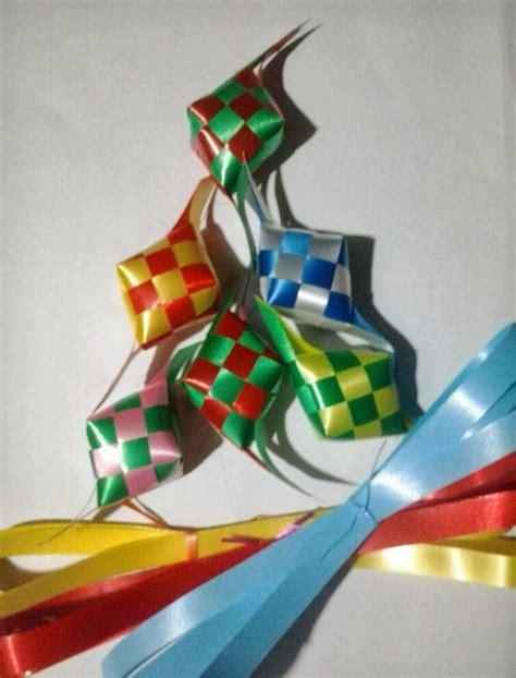icah kreasi membuat ketupat pita plastik