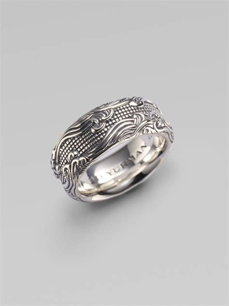 david yurman waves band ring in silver for lyst