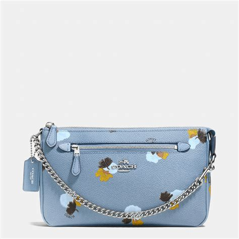Coach Flowery lyst coach nolita wristlet 24 in floral print coated canvas in metallic