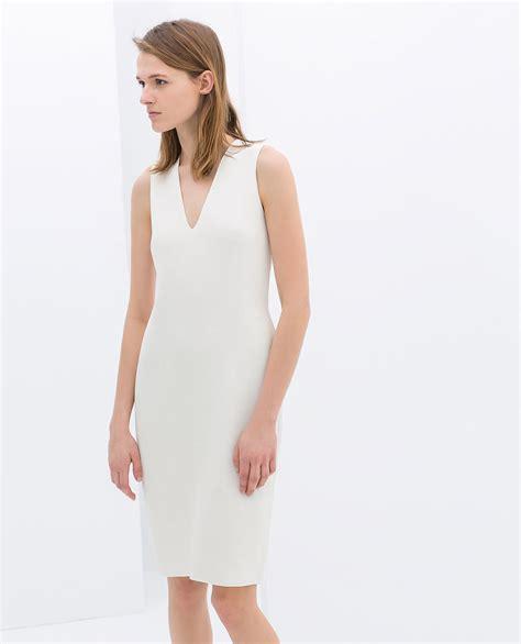 White Zahra zara white sheath dress who says you need a big dress