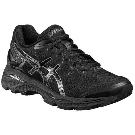 asics black womens sneakers asics womens gel kayano 23 running shoes black