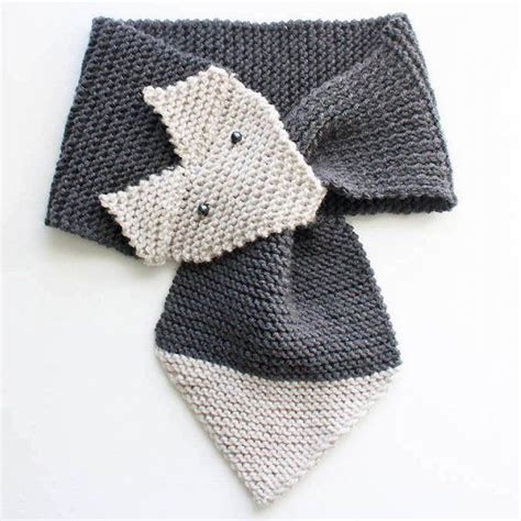 knitting pattern scarf free beginner knitting pattern for a cute fox scarf women and