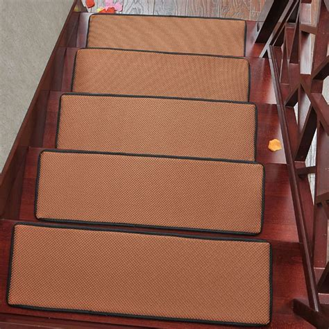 stair tread rugs non slip top selling rectangle stair carpet non slip stair tread mats breathable solid color rugs for