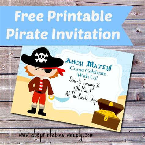 Free Printable Pirate Birthday Party Invitation Itsy Bitsy Fun Free Pirate Invitation Template