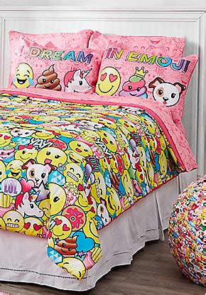 Bed Emoji by Tween Bedding Comforter Sheet Sets Pillows