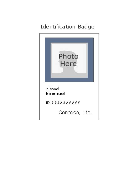 I Card Template Ms Office by Id Badge Template Madinbelgrade
