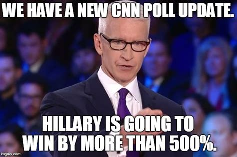 Anderson Cooper Meme - hillary clinton s numbers are up imgflip