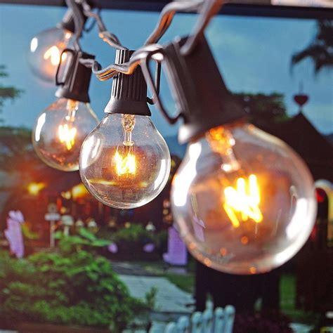Outdoor Globe String Lights Wholesale Wholesale Patio Lights G40 Globe String Light Warm White 25clear Vintage Bulbs