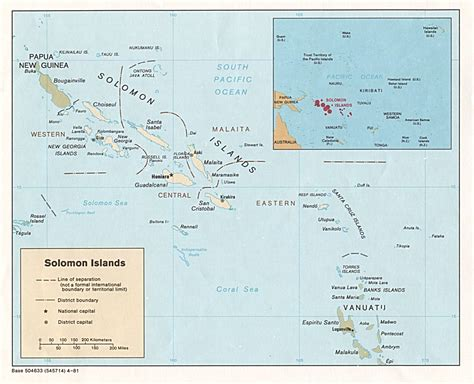 solomon islands map solomon islands maps perry casta 241 eda map collection ut library