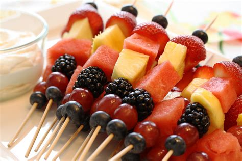 fruit kabobs summer fruit kabobs mascarpone dip saving room for dessert