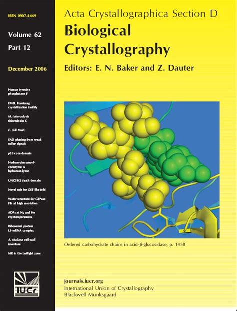 acta crystallographica section d acta crystallographica