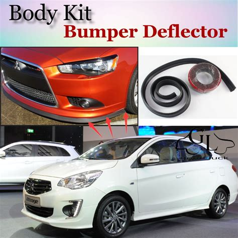 mitsubishi attrage bodykit bumper lip deflector lips for mitsubishi mirage attrage