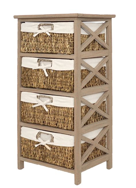 bathroom wicker shelves chest drawers bathroom shelf highboard antique brown