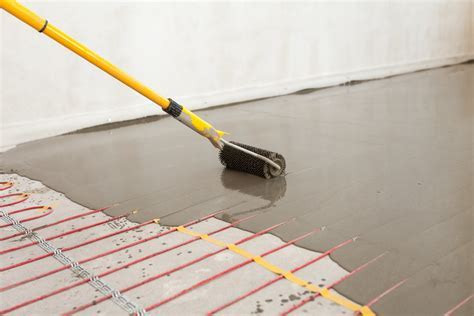 Heated Concrete Floor Slab Specifications Architecture