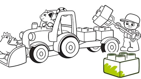 lego com duplo downloads coloring pages truck