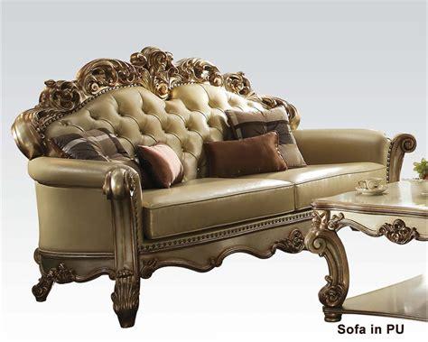 acme furniture sofa acme furniture sofa vendome gold ac530s