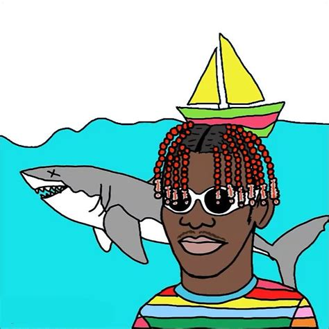 lil boat quot lil yachty lil boat happy drawing quot stickers by