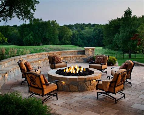 outdoor firepits designing a patio around a pit diy