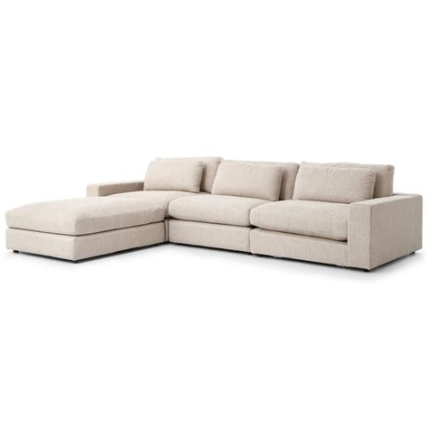 sectional sofa beige cornerstone modern classic beige linen sectional sofa