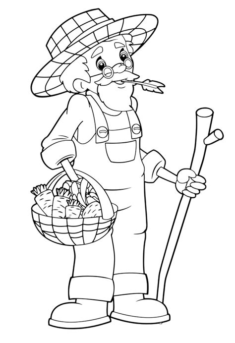 farmer coloring pages farmer and the dell coloring pages sketch coloring page