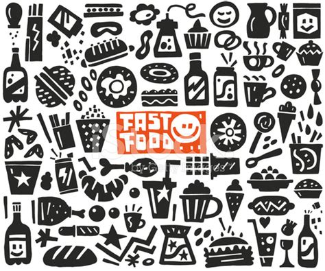 fast doodle fast food doodles stock photos freeimages