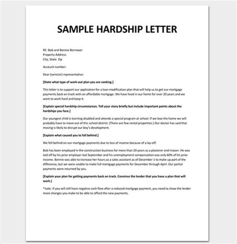 Hardship Letter Guide exle hardship letter for loan modification 2017
