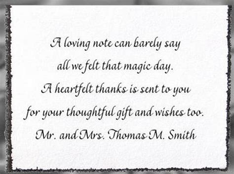 thank you quotes for wedding presents how to find the right wording for wedding thank you cards wedding invitation wording sles