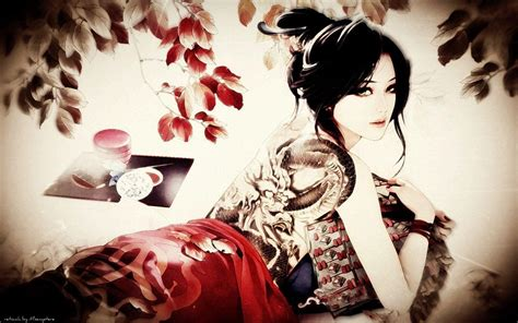 japanese tattoo girl wallpaper japanese tattoo wallpapers wallpaper cave
