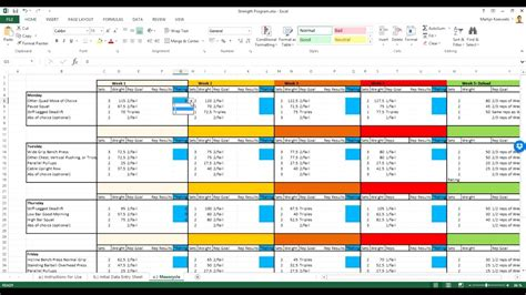 Renaissance Periodization Strength Training Templates Youtube Rp Physique Template