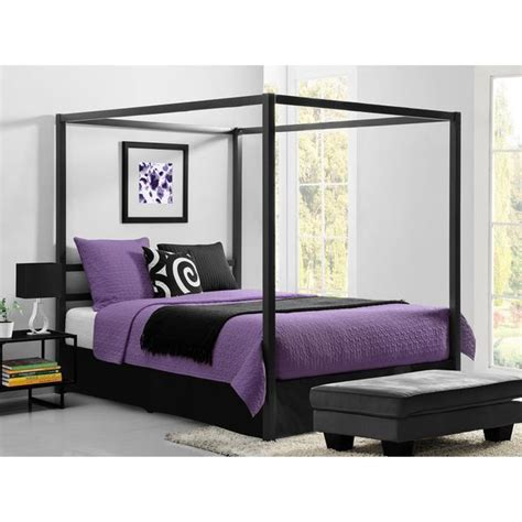 Canopy For Canopy Bed dhp modern grey queen canopy bed free shipping today overstock com