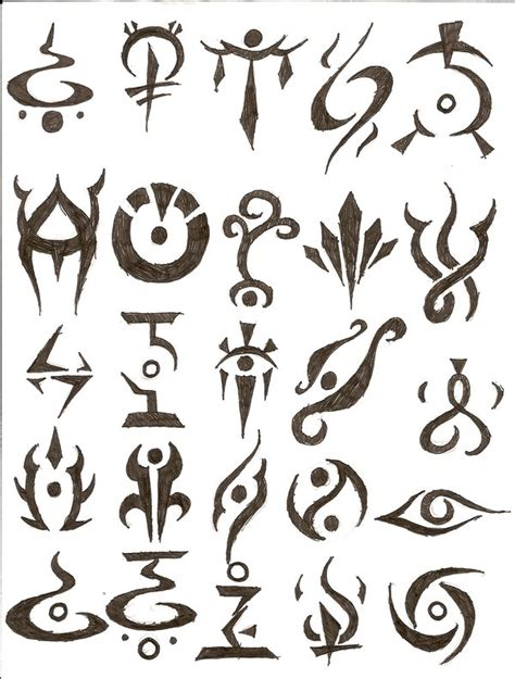 doodle drawings and their meanings symbol tattoos by icemo on deviantart