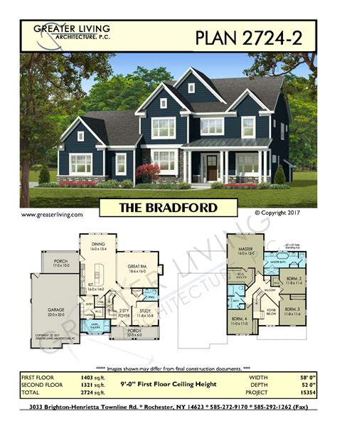 two house plan plan 2724 2 the bradford two house plan greater