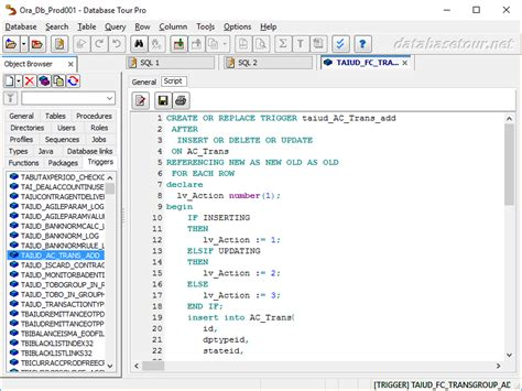 tutorial oracle trigger trigger oracle