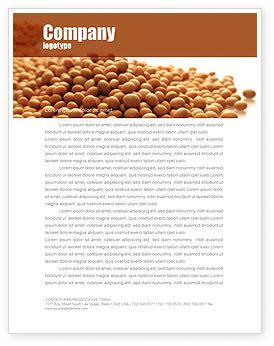 soy beans letterhead template layout for microsoft word