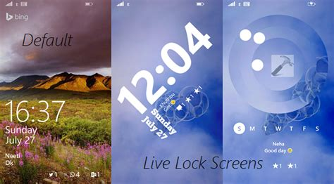 live lock themes windows phone how to set live lock screen in windows phone 8 1