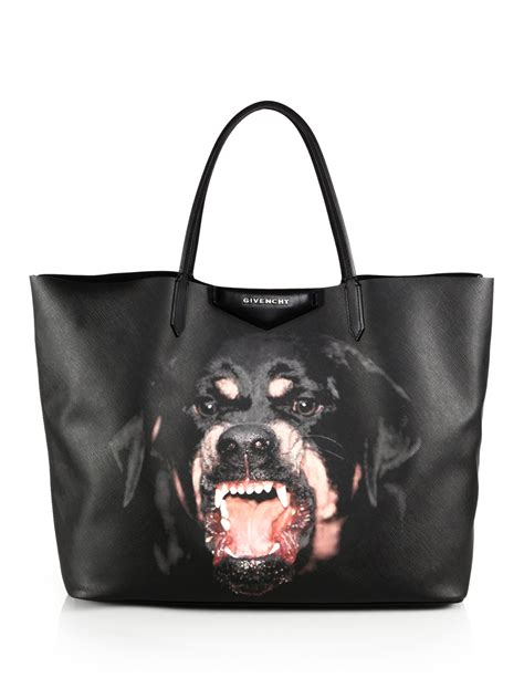 givenchy rottweiler tote givenchy antigona medium shopping tote in metallic lyst