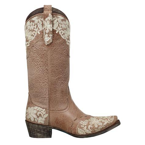 jeni lace boots boots womens brown leather jeni lace 13 quot snip toe