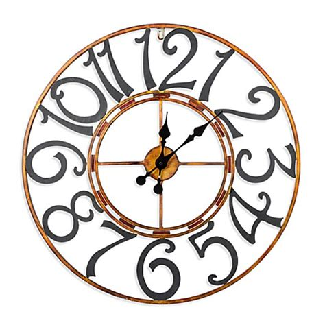 bed bath beyond clocks buy cooper classics lasalle wall clock from bed bath beyond