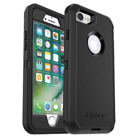 otterbox defender series iphone 8 7 plus black